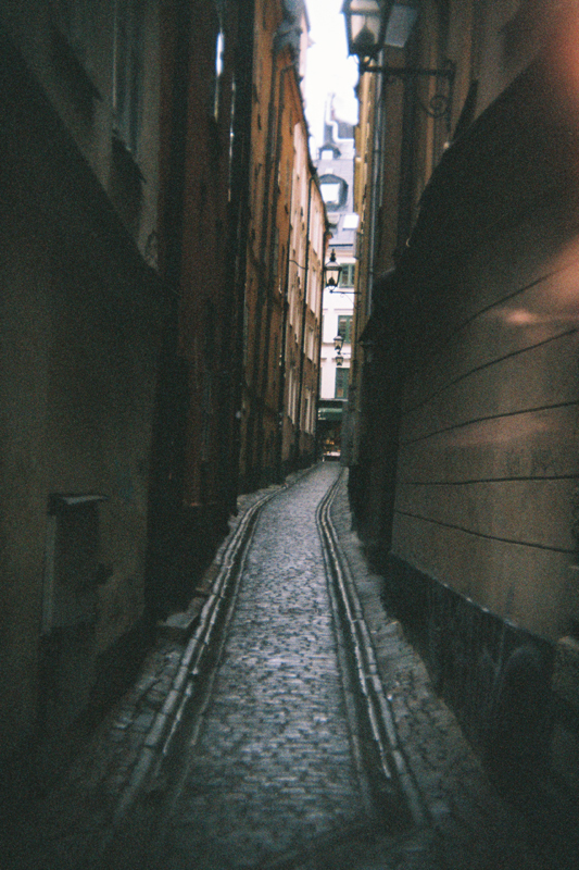 Stockholm in 135BC: Old Town Alley by neuroplasticcreative