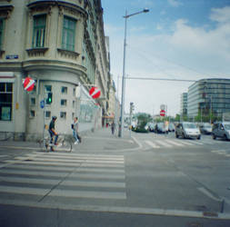 Wien in Diana Mini: Prinz-Eugen-Strasse by neuroplasticcreative