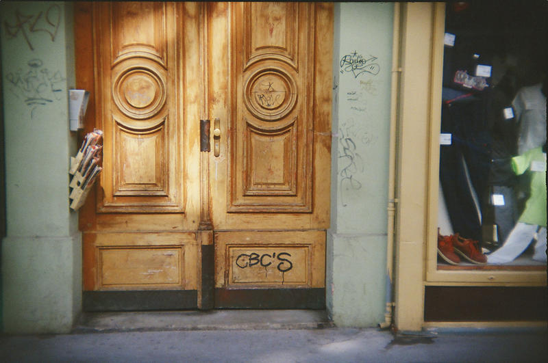 Wien in Holga 135BC: Roses's Door by neuroplasticcreative