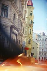 Wien in Holga 135BC: Vienna Melt by neuroplasticcreative