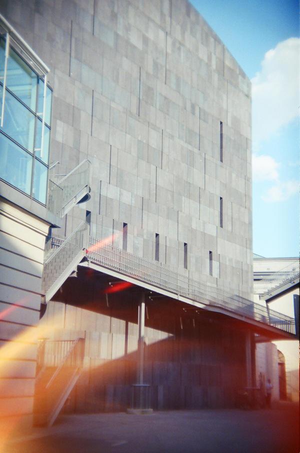Wien in Holga 135BC: MUMOK by neuroplasticcreative