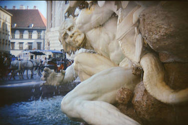 Wien in Holga 135BC: What a Fright(ful Fellow) by neuroplasticcreative