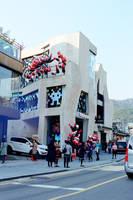 Jongno Days: Cartoonish Building by neuroplasticcreative