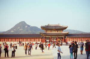 Gyeongbokgung Palace: Passing By III by neuroplasticcreative