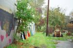 Alberta in the Rain: Yard