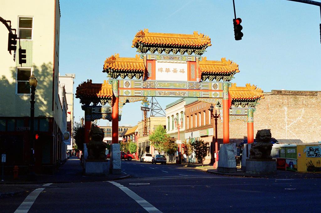 Downtown PDX: Chinatown Gate by neuroplasticcreative