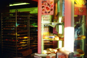Downtown PDX: Voodoo Doughnut Interior by neuroplasticcreative
