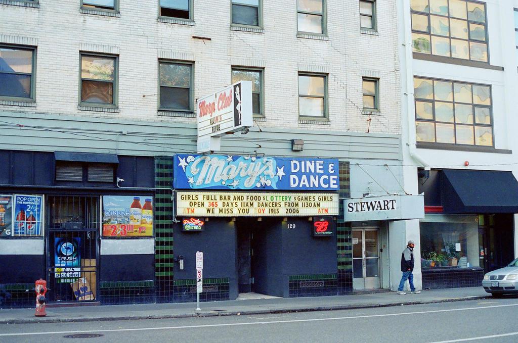 Downtown PDX: Mary's Strip Club by neuroplasticcreative