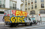 Paris Beaubourg: La camionnette graffiti