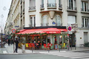 Paris Beaubourg: Street Cafe by neuroplasticcreative