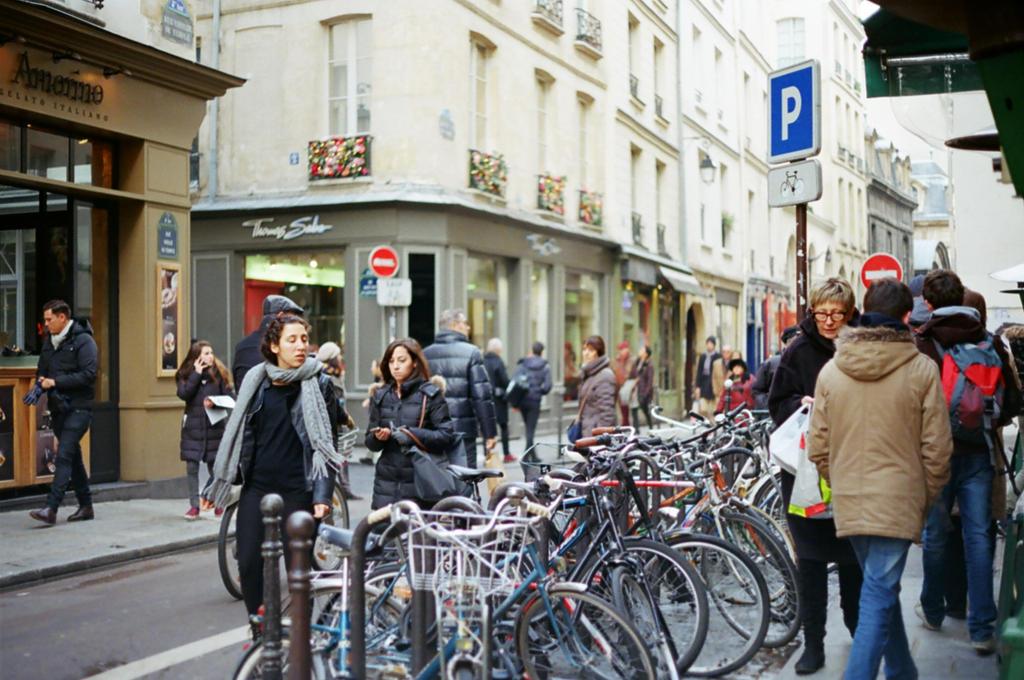Paris Le Marais: Les bicyclettes by neuroplasticcreative