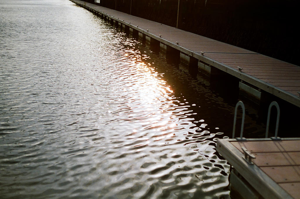 Grand Canal Dock: Sun Sets by neuroplasticcreative