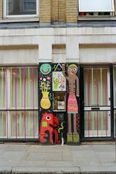 Brick Lane: Graffiti, I by neuroplasticcreative