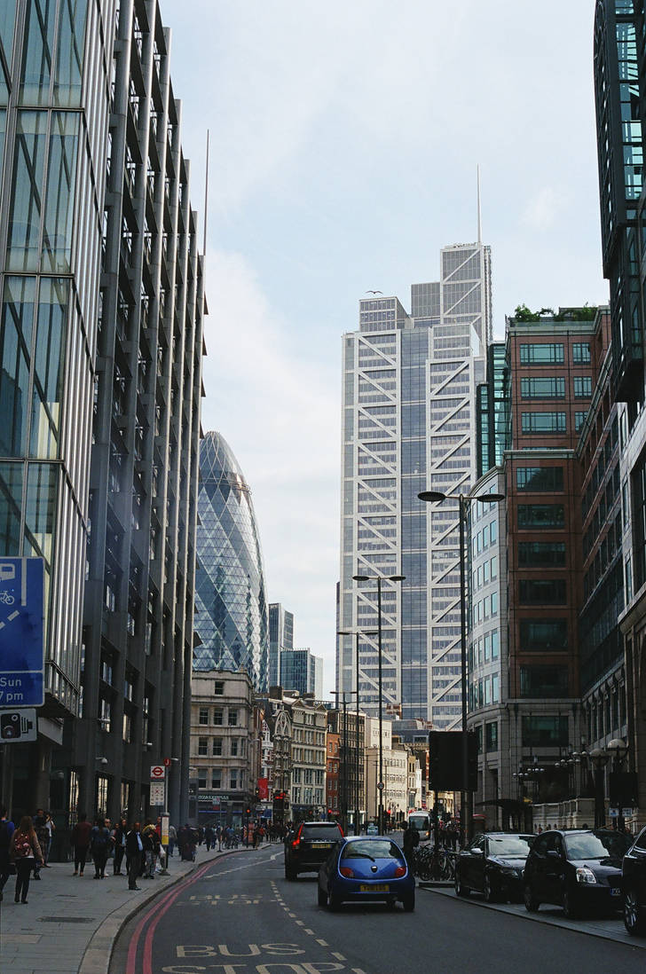 London: Gherkin, II by neuroplasticcreative