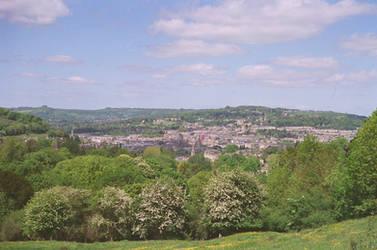 Prior Park Landscape Garden: View of Bath, II by neuroplasticcreative