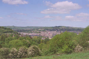 Prior Park Landscape Garden: View of Bath, III by neuroplasticcreative