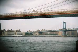 Brooklyn in Color: Brooklyn Bridge, II by neuroplasticcreative