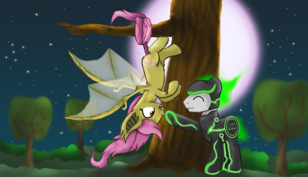 Flutterbat duo by stashine-nightfire