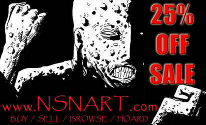 NSNart first annual 25 percent OFF sale by NSN-Design