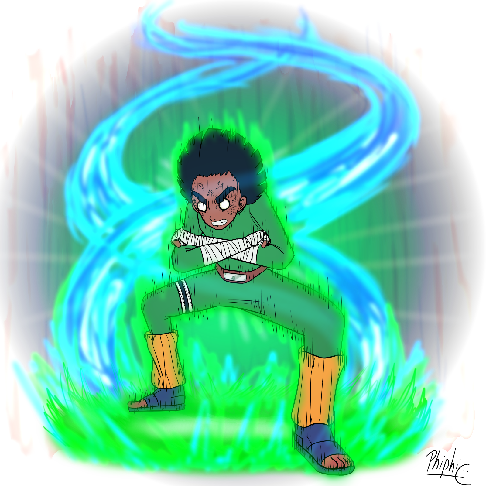 14- Rock Lee (Naruto) [Growing Challenge] By PhiphiAuThon