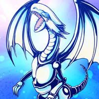 [DailyFanart] 02/08/17:Dragon Blanc Aux Yeux Bleus by PhiphiAuThon