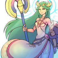 Smash4 Character Countdown #21: Palutena by PhiphiAuThon
