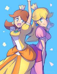 Daisy and Peach by PhiphiAuThon