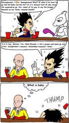 Vegeta Reacts to Goku vs. Superman Rematch by Mothralina95