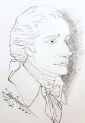 Alexander Hamilton Portrait Sketch