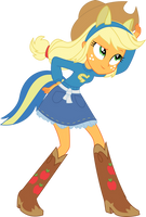 Equestria girls AJ by Secret-Asian-Man