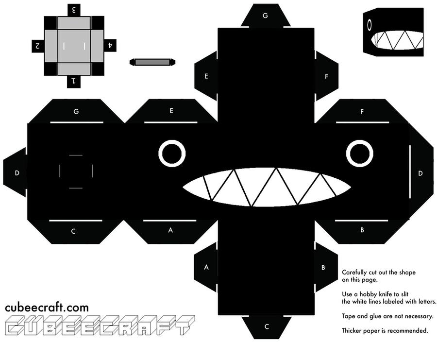 Totoro Origami Template