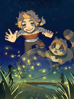 Firefly Catching by Kukiko-tan