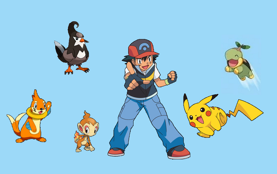 Ash and his Sinnoh team by poketerry on DeviantArt