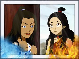 Fire vs Water by Flamula