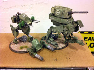 Allied 'Wildfire' and 'Raptor' walkers for Dust