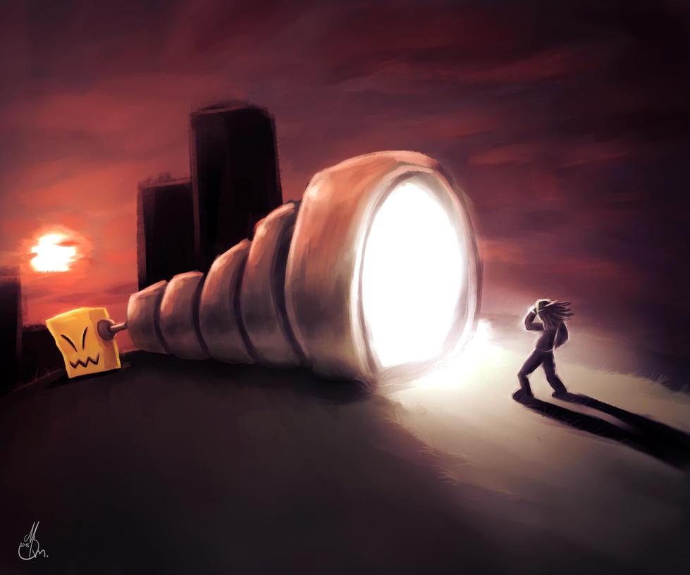 A flashlight... by TeaDrone