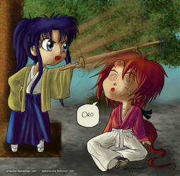 Kaoru x Kenshin - paint by BrunoCerrato