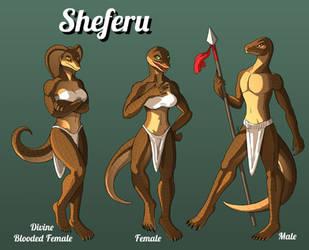 Sheferu Species Reference Sheet by Sriseru