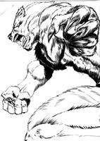 Werewolf by victordelacroix