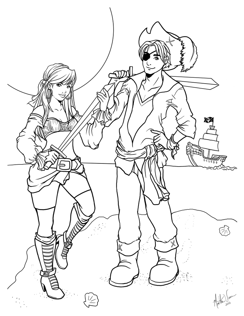 Pirates Coloring Page By Marthavann On DeviantArt