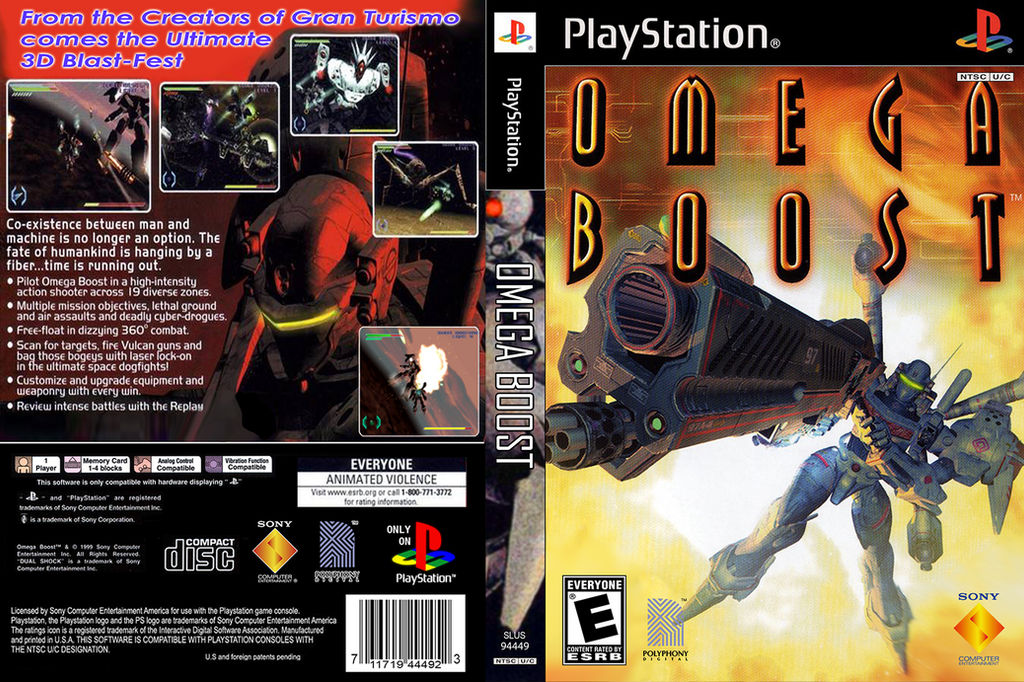 Omega Boost PS1 DVD Cover by FrameRater on DeviantArt