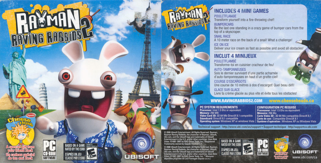 Rayman Raving Rabbids 2 PC Demo Cover by FrameRater on