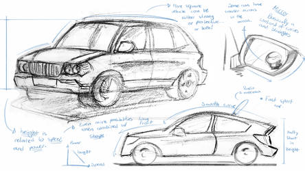 Car sketches and analysis 1