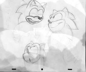 Sonic Pencil Sketches