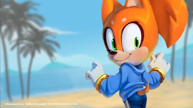 Sonic Girl Painting