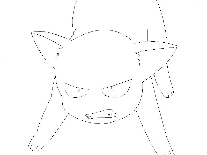 Line Drawing Cat Face : Talking cat cartoon animation stock footage video