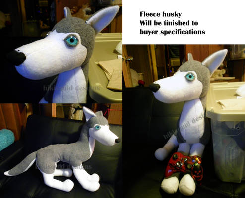 PLUSH HUSKY FOR SALE 2 feet long