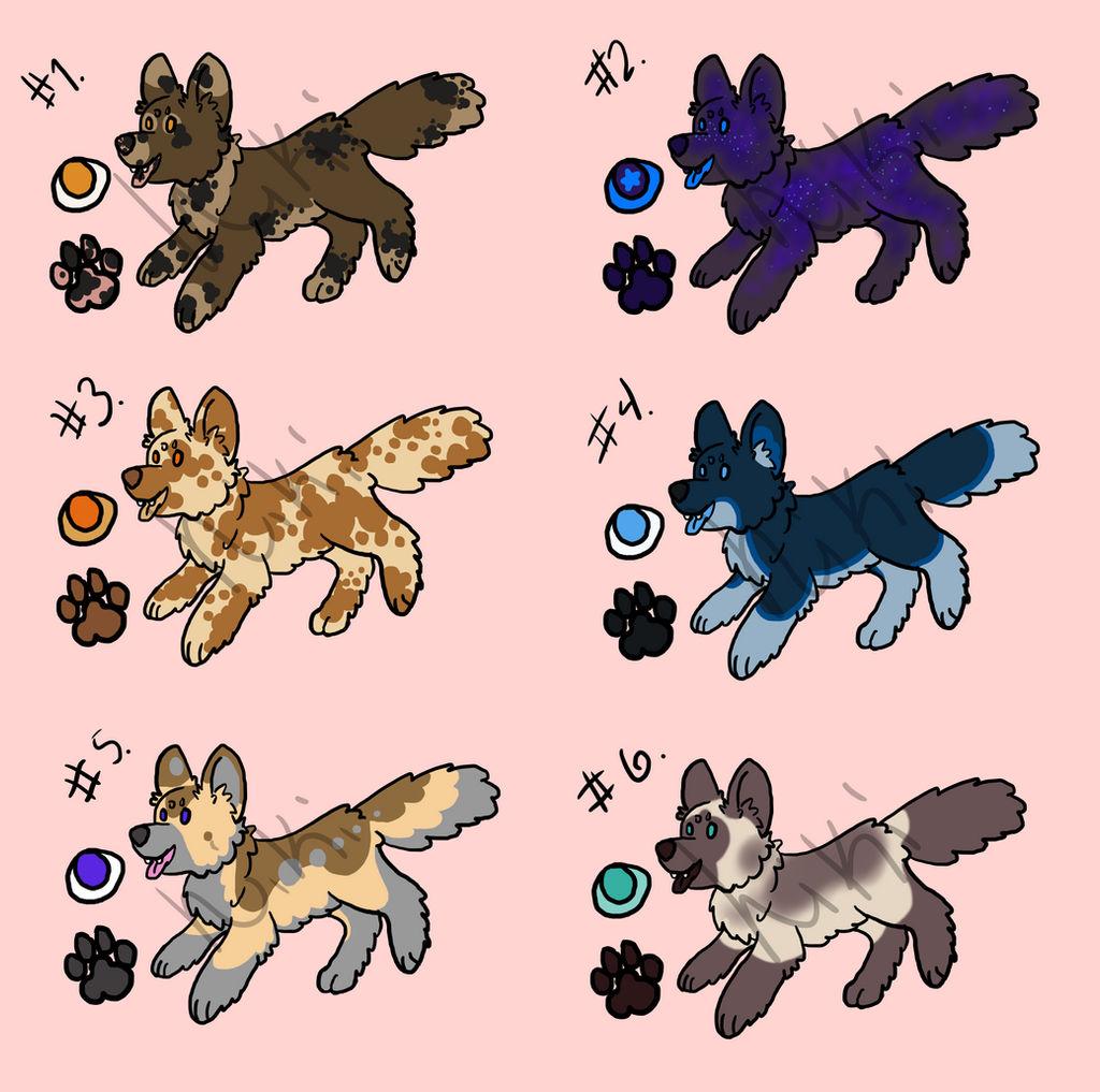 Chibi canine adoptables by jennovazombie
