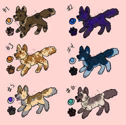 Chibi canine adoptables