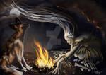 La Loba - Bone Woman by AmberCrystalElf